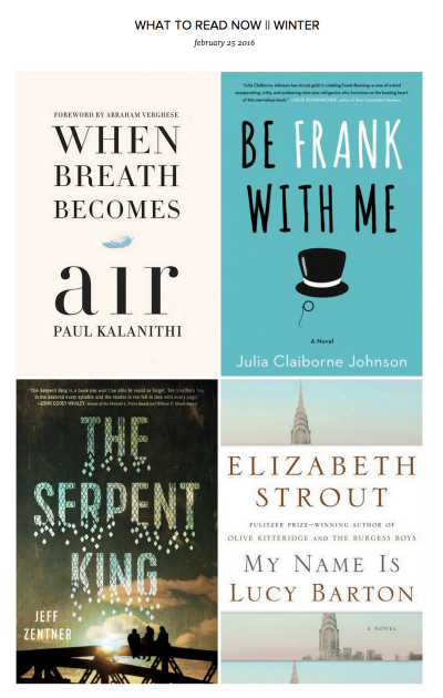 What to Read Now: Winter 2016